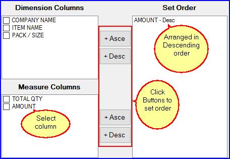 Set Order - Grid Report Configuration