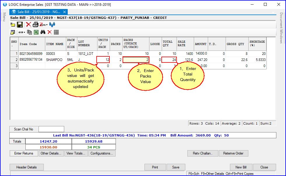 Adjusting Units Per Pack Value