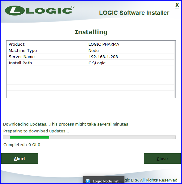 Software-Installation-Started