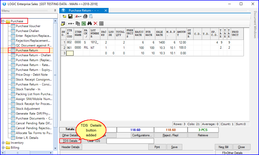 TDS-Details-Option-Added-In-Purchase-Return