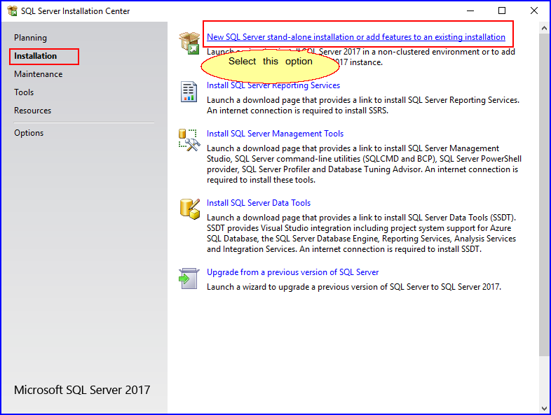 SQLServerInstallationCenter