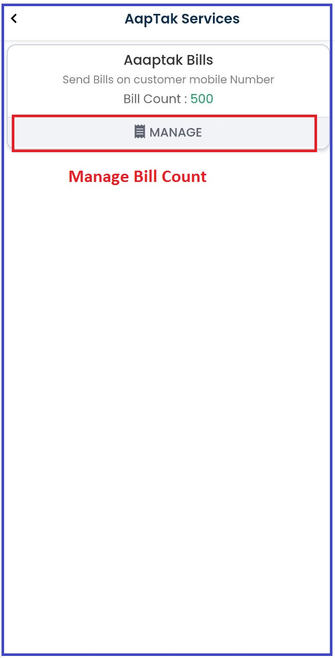 Manage-Bill-Count