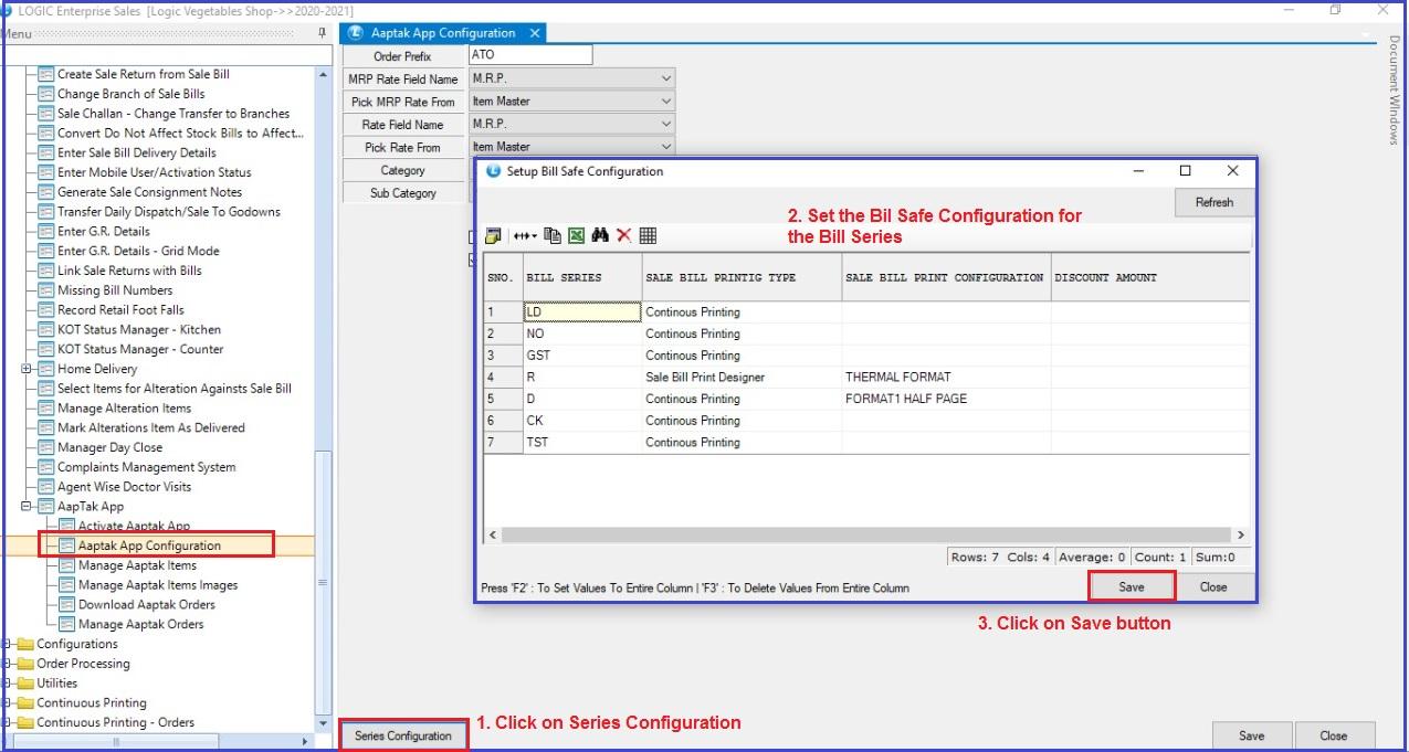 Setup-Bill-Safe-Configuration