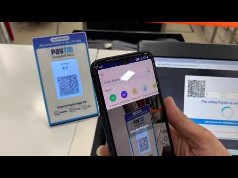 Accept payments at POS from any UPI enable App using PayTM dynamic Bharat QR Code